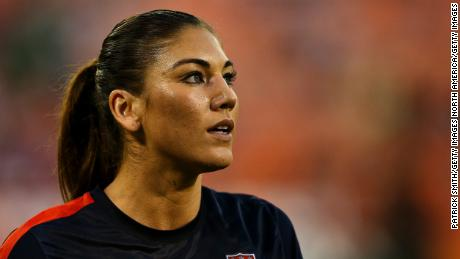 WASHINGTON, DC - SEPTEMBER 03: Goal keeper Hope Solo #1 of USA against Mexico during the second half of an International Friendly at RFK Stadium on September 3, 2013 in Washington, DC.  The United Stated defeated Mexico 7-0. (Photo by Patrick Smith/Getty Images)