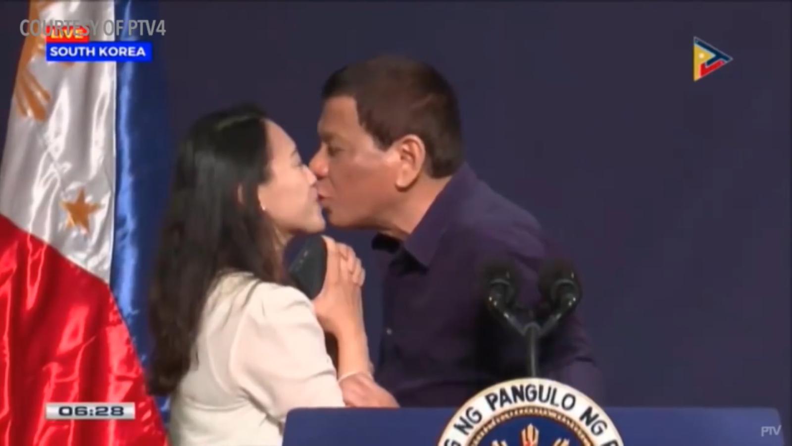 Dutertes kiss was act of endearment spokesman says cnn m4hsunfo