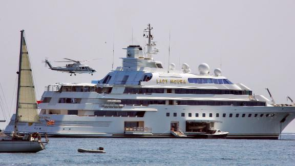 Lady Moura, owned by Saudi Arabian businessman Nasser Al-Rashid, sparked a beach pollution alert at the Cannes Film Festival in 2007 after colliding with rocks as it was navigating a short distance offshore.