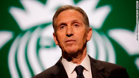 Starbucks Chairman and CEO Howard Schultz speaks at the Annual Meeting of Shareholders in Seattle, Washington on March 22, 2017.  / AFP PHOTO / Jason Redmond        (Photo credit should read JASON REDMOND/AFP/Getty Images)