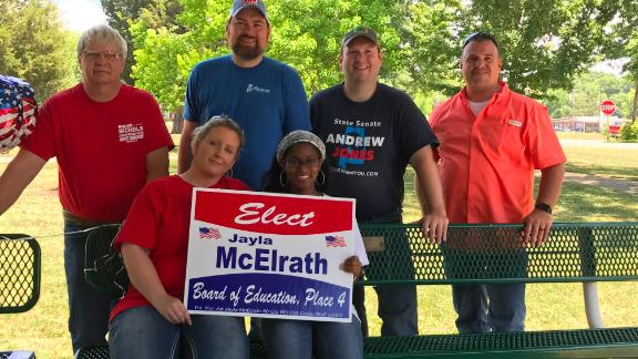 18 year-old Jayla McElrath says she is the only African American running in Alabama