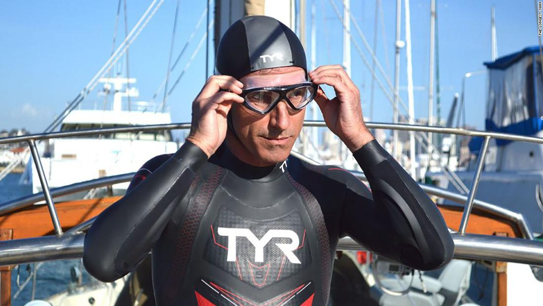 French swimmer steps onto land in Hawaii 6 months after entering ocean in Japan