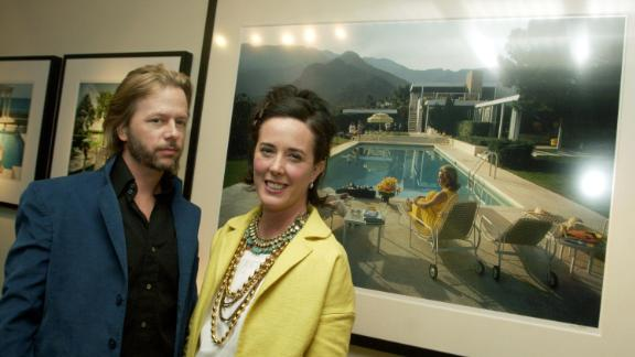 Comedian David Spade and designer Kate Spade attend a gallery exhibition of photographer Slim Aarons' work curated by Kate Spade on February 16, 2006 in Los Angeles, California.