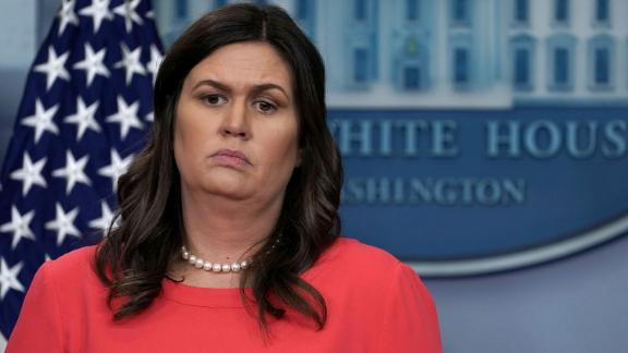 WASHINGTON, DC - JUNE 05:  White House Press Secretary Sarah Sanders listens during a White House daily news briefing at the James Brady Press Briefing Room of the White House June 5, 2018 in Washington, DC. Sanders held a daily briefing to answer questions from members of the White House Press Corps.  (Photo by Alex Wong/Getty Images)