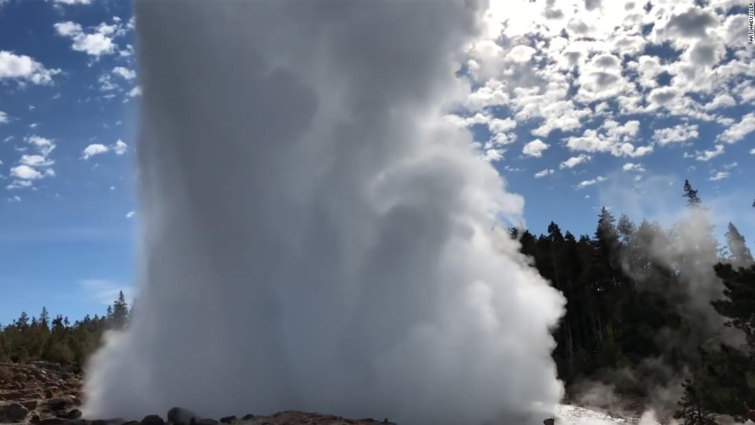 The Steamboat Geyser in Yellowstone National Park is approaching a record number of eruptions