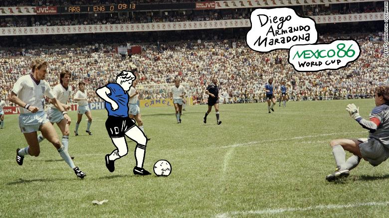 a4759be23cb Diego Maradona  How the  Hand of God  and the  Goal of the Century ...