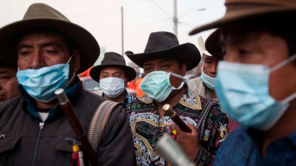 Indigenous authorities prepare to join the rescue effort in Escuintla on June 5.