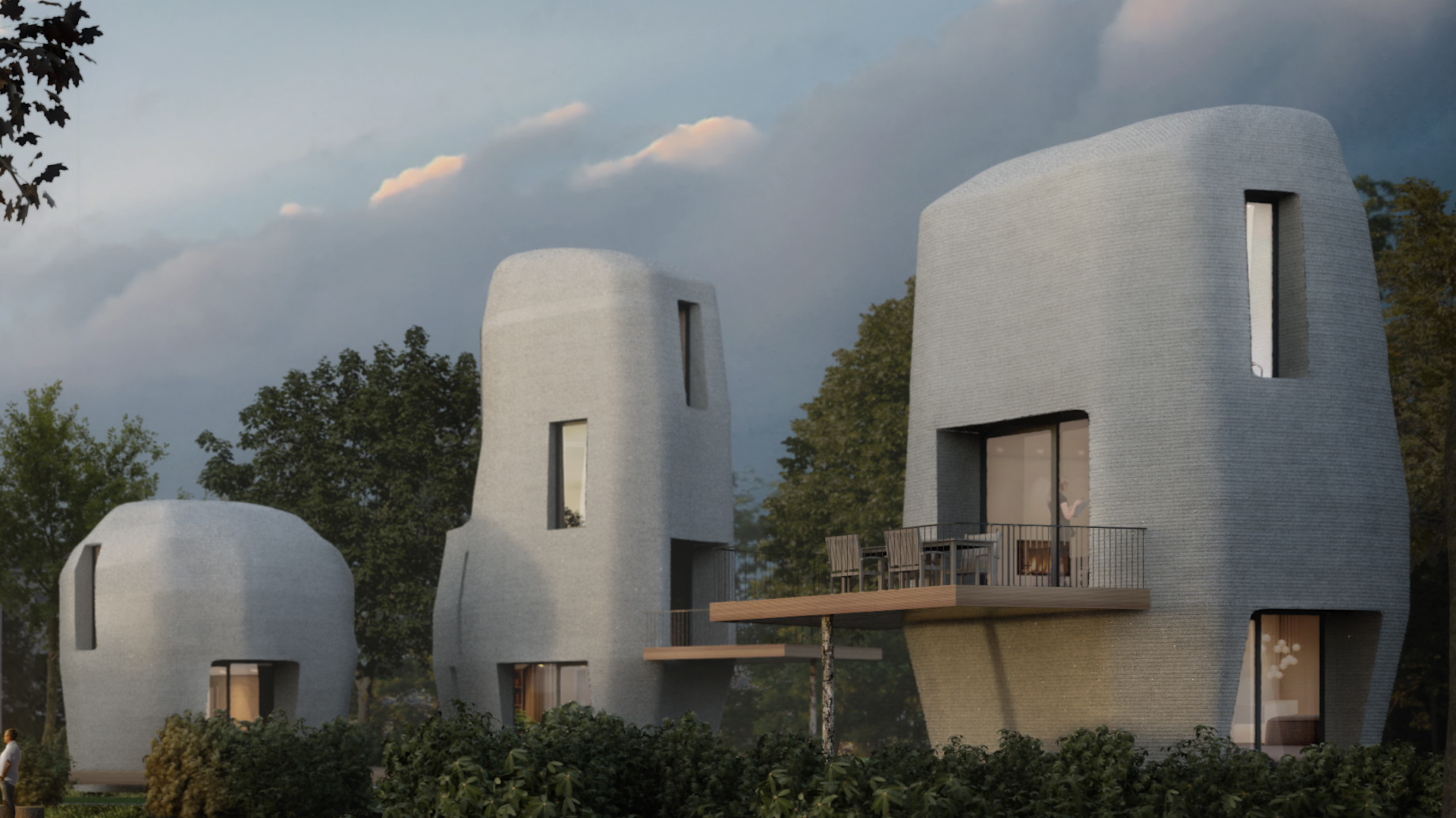 Watch these 3D-printed homes being built