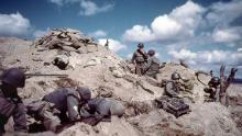 1952: During the Korean War, American soldiers dug something on a hill in South Korea