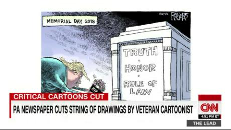 Why does a Pittsburgh newspaper keep killing cartoons making fun of Trump?