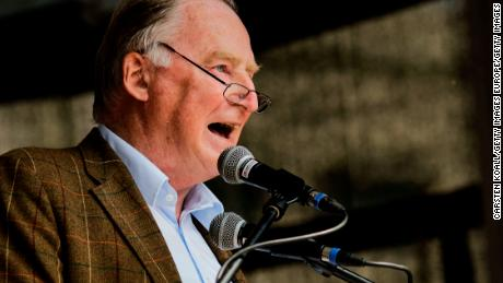 Alexander Gauland speaks at an event in Berlin on May 27.
