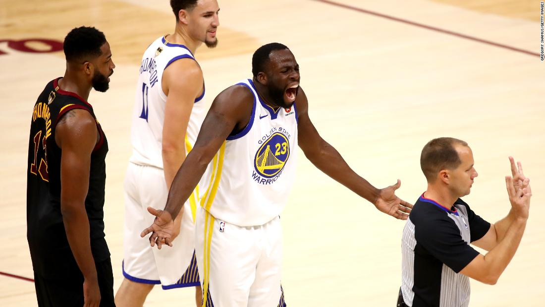 Green reacts to a call in the first quarter of Game 3.