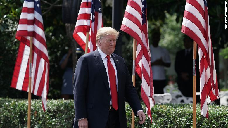 U.S. President Donald Trump arrives at a 'Celebration of America' event on the south lawn of the White House June 5, 2018 in Washington, DC. (Alex Wong/Getty Images)