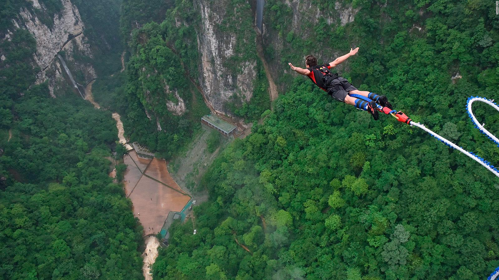 Bungee Jumping.World S Highest Bungee Jump To Open In China Off Zhangjiajie