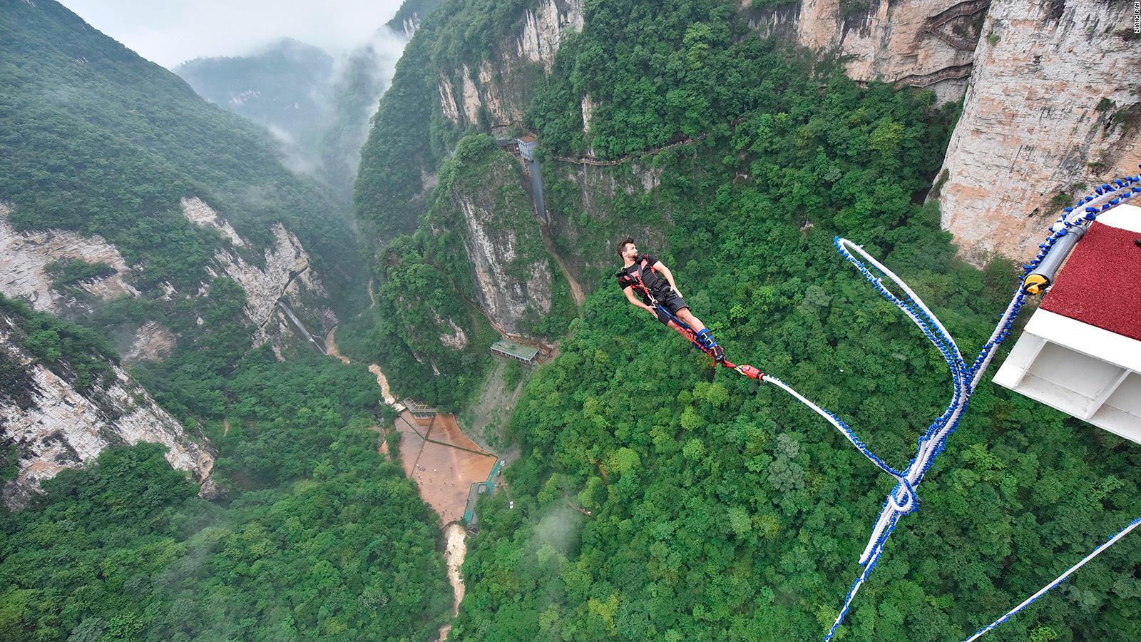 Bungee off the world's highest glass bridge