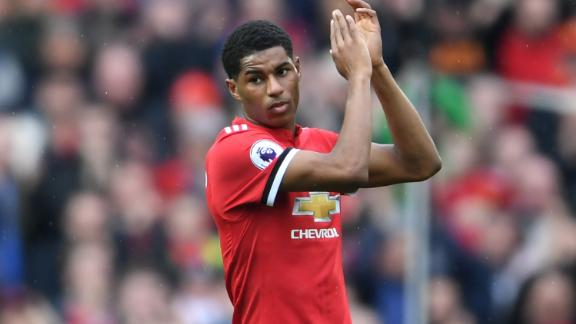 One of the highlights of Rashford's 2017/2018 season was his two goals against rivals Liverpool.