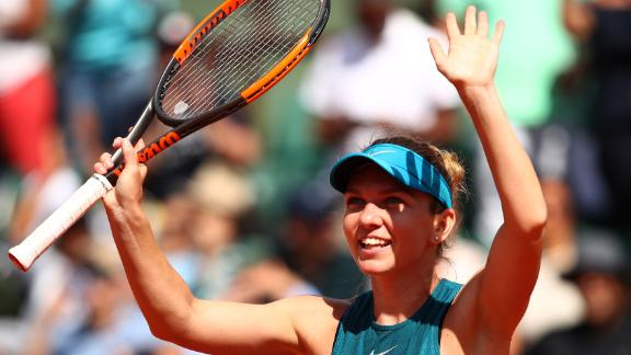 Halep had reached her second consecutive French Open final with a straight sets win over Garbine Murguruza of Spain. Halep retained her world No.1 spot as she bids for a first grand slam title.