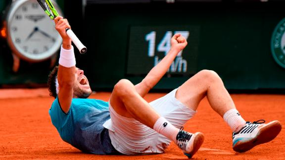 The unseeded Cecchinato, who had never previously won a round at a grand slam, beat Djokovic, the 12-time major champion and 2016 French Open winner, in four sets.