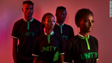 ONCHEK unity collection designed in homage to the Nigerian Super Eagles team and the road to the 2018 World Cup