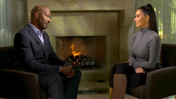 Kim Kardashian speaks to CNN