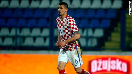 OSIJEK, CROATIA - MARCH 23: Dejan Lovren of Croatia in action during the International Friendly match between Croatia and Israel at stadium Gradski Vrt on March 23, 2016 in Osijek, Croatia. (Photo by Srdjan Stevanovic/Getty Images)