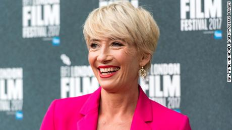 Actress Emma Thompson is pictured at the London Film festival in October.