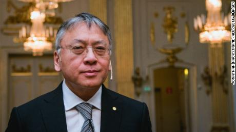 Kazuo Ishiguro, the 2017 Nobel Literature Prize laureate, is pictured in December in Stockholm, Sweden.