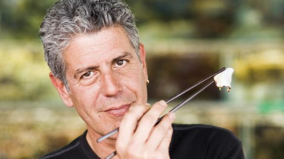 "His breakout show, ""Anthony Bourdain: No Reservations,"" aired on the Travel Channel from 2005-2012. Bourdain would take viewers around the world to show how different cultures enjoy their food."