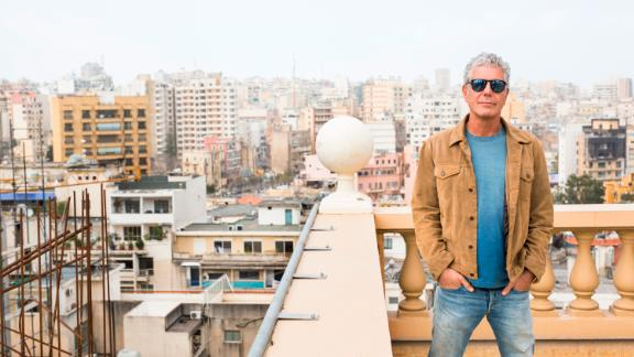 Bourdain films in Beirut, Lebanon, in 2015.