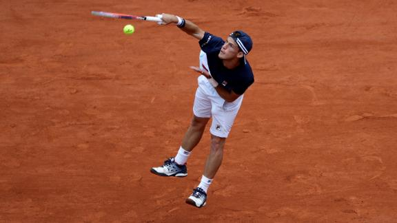 Schwartzman ended Nadal's 37-set winning streak at Roland Garros after taking the opener, but rain delayed their quarterfinal overnight and he went down in four sets to the resurgent Spaniard.
