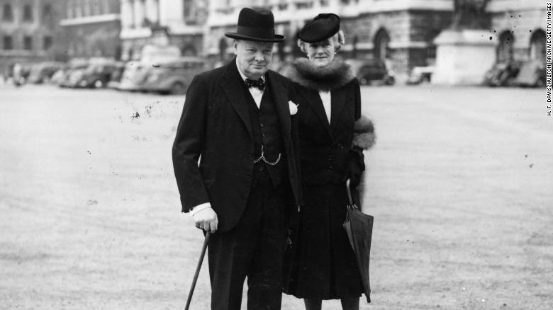Winston Churchill and his wife, Clementine, on their way to No. 10 Downing Street shortly after he became prime minister.