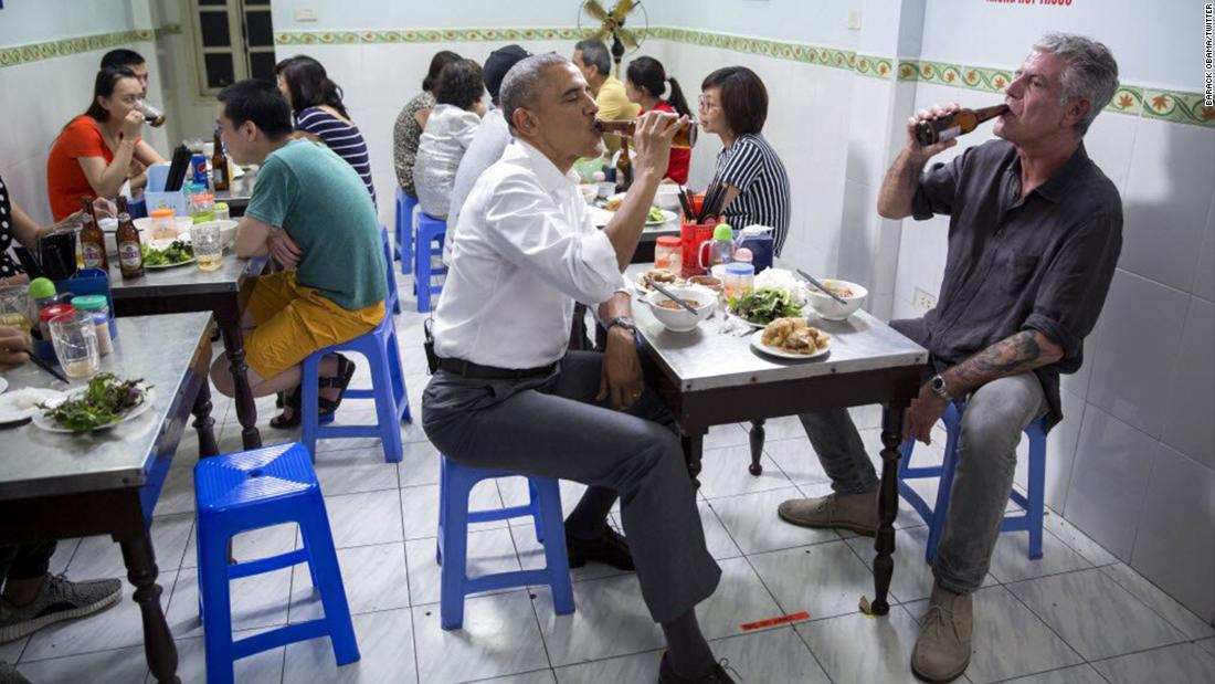 Obama on Anthony Bourdain: 'He taught us about food' and 'its ability to bring us together'