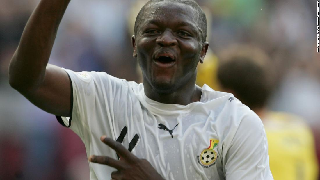<strong>No. 4:    Ghana 2-0 Czech Republic, 2006</strong> <br />A quiet upset that lives on in the hearts of Ghanians . Coming off a 2-0 disappointment at the hands of Italy, Ghana bounced back to beat the Czech Republic with goals from Asamoah Gyan and Sulley Muntari (pictured celebrating).