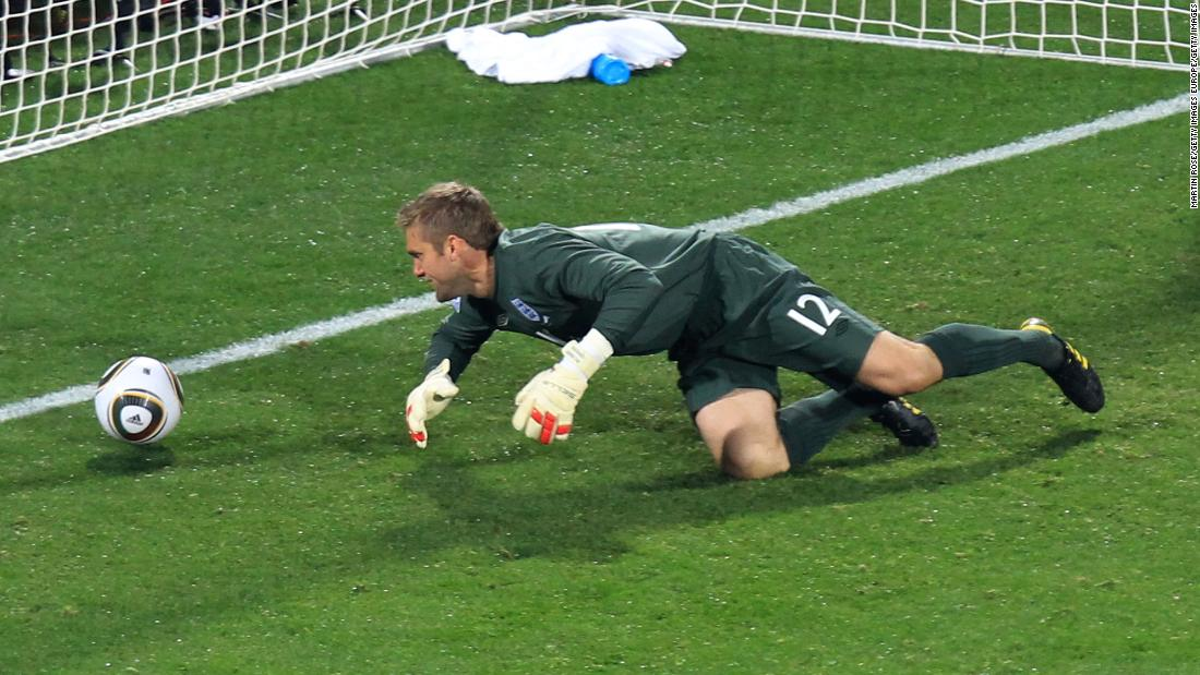 <strong>England 1-1 USA , 2010</strong><br />Technically a tie -- not an upset -- but the Americans were once again foils to a favored England team. Goalkeeper Robert Green (pictured) misjudged an easy Clint Dempsey strike which proved fatal in South Africa. Finishing seco   nd in the group, England were pitted against Germany and lost 4-1, while the U.S. lost a thriller to Ghana 2-1.