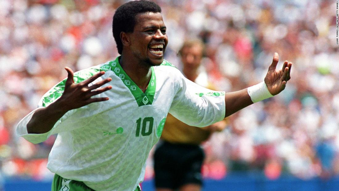 <strong>Saudi Arabia 1-0 Belgium, 1994</strong><br />Making their World Cup debut, the Saudis had already surpassed expectations with a 2-1 win over Morocco before improbably beating Belgium with a wondrous goal from Saeed Al-Owairan (pictured). Saudi entered the match w   ith a less than 23% chance of winning, according to data analysts Gracenote. The loss still ranks as Belgium's most improbable in the World Cup.