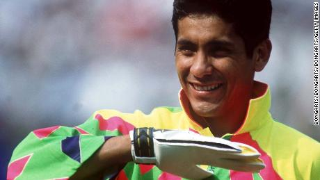FUSSBALL :  Nationalmannschaft MEXIKO / MEX am 05.07.94  Torwart Jorge CAMPOS  Foto:BONGARTS/Michael-Kunkel