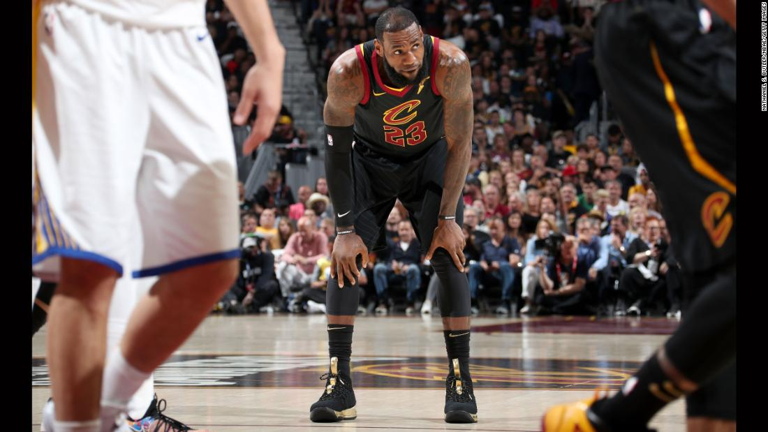Was this James' last game as a Cavalier? There has been much speculation about his future, as he can opt out of his contract and sign with a new team for next season.