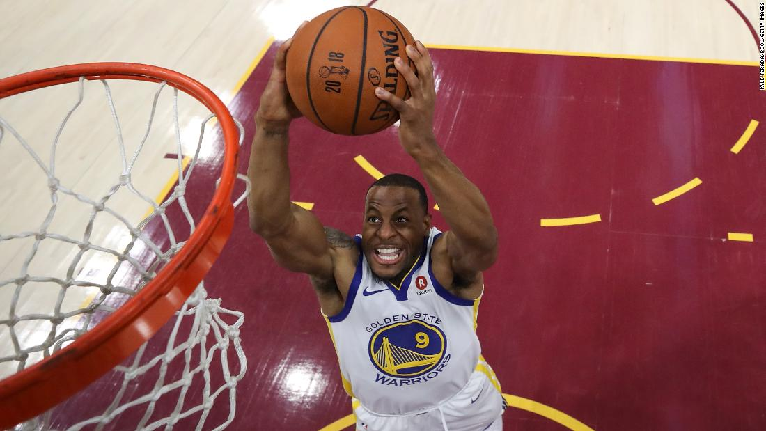 Golden State forward Andre Iguodala throws down a dunk.