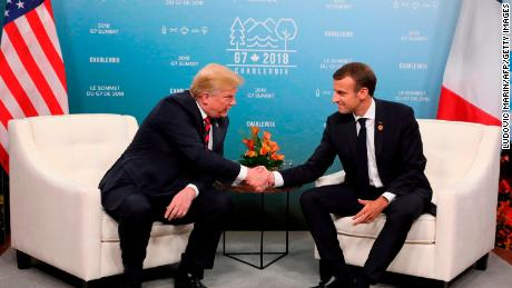 Trump spars with Macron as he arrives in France