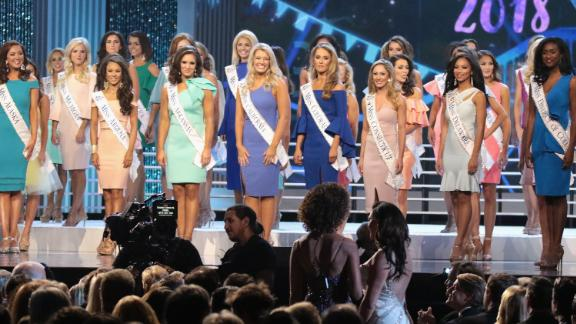 Participants in the 2018 Miss America competition on September 10, 2017, in Atlantic City.
