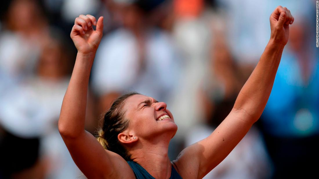 Simona Halep beat Sloane Stephens in three sets Saturday to win the French Open and her first major after losing three grand slam finals.