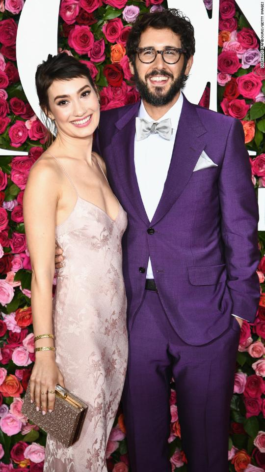 Schuyler Helford and Josh Groban attend the 72nd Annual Tony Awards at Radio City Music Hall on Sunday, June 10, in New York City.