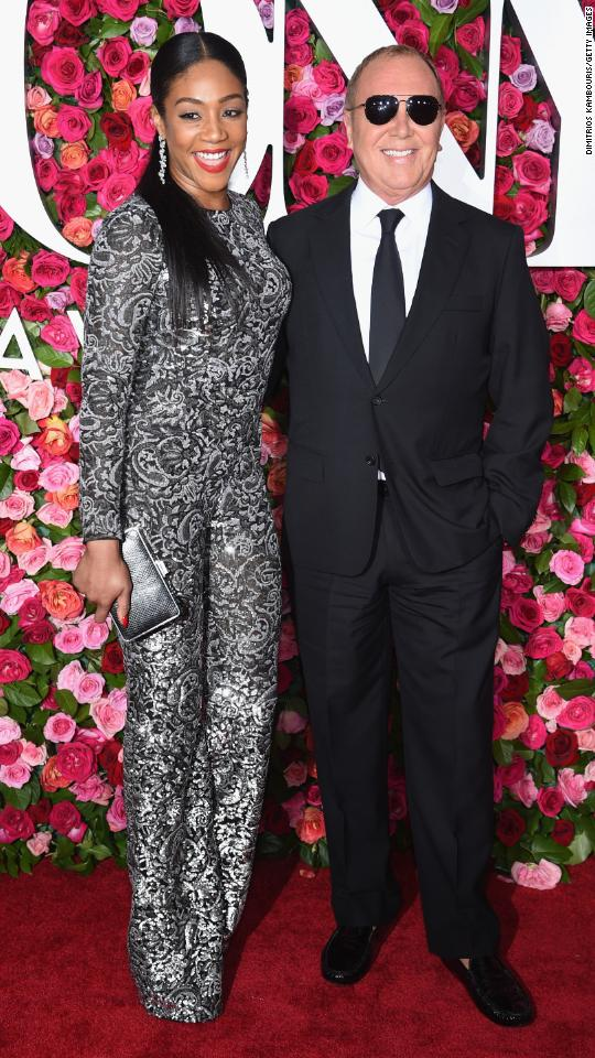 Tiffany Haddish and Michael Kors