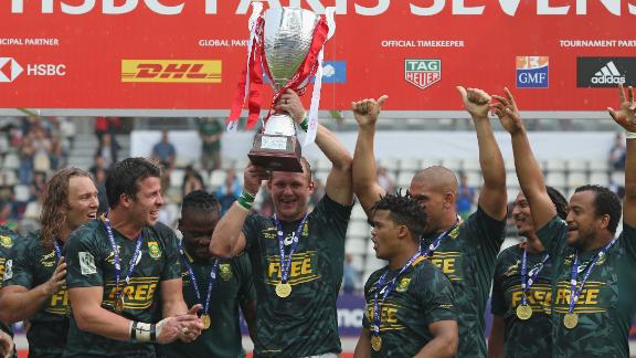 Victory for South Africa and a fifth-place finish for Fiji saw the Blitzboks take the 2017-18 Sevens World Series title by just two points.