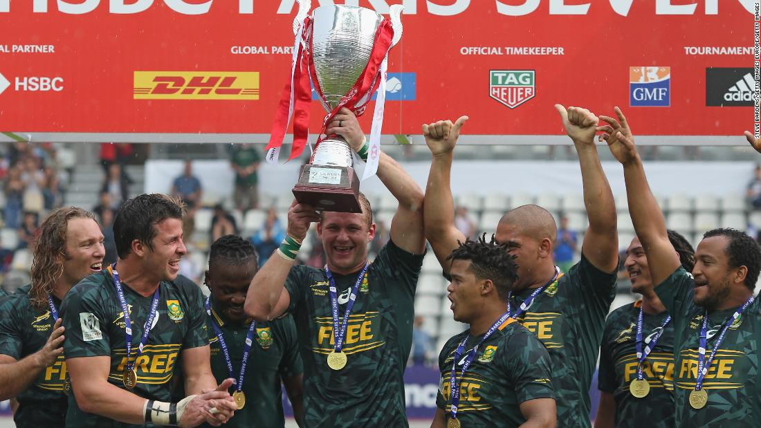 4451ba54595 Victory for South Africa and a fifth-place finish for Fiji saw the  Blitzboks take. Photos: Rugby Sevens ...