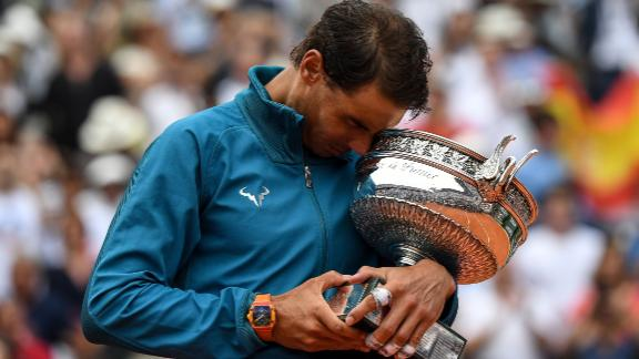 The Spaniard won his first French Open on his debut as a 19-year-old at Roland Garros and has only lost two matches since then.