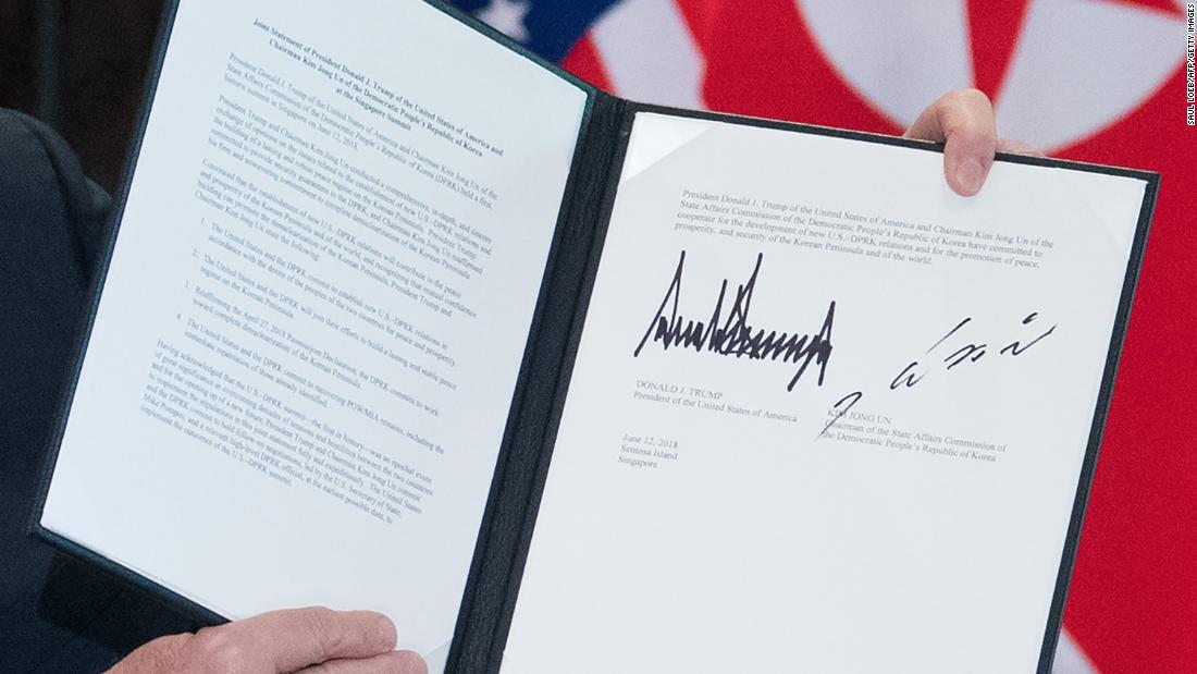 full text of trump kim signed statement cnnpolitics