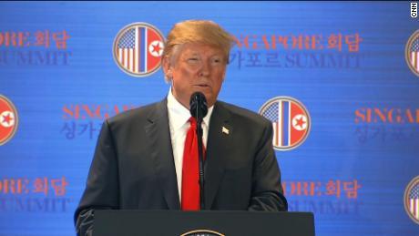 Trump: We will stop 'war games'