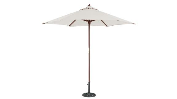 TropiShade 9-Ft Wood Market Umbrella