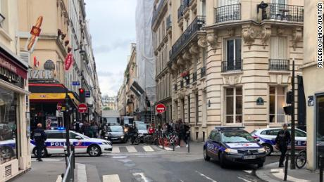Bystanders in the Paris vicinity shared photos and video as the situation unfolded on Tuesday.